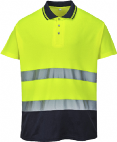 Polo bicolor Cotton Confort. Mod. S174